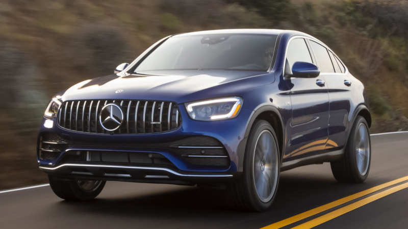 Front view of the Mercedes-Benz GLC