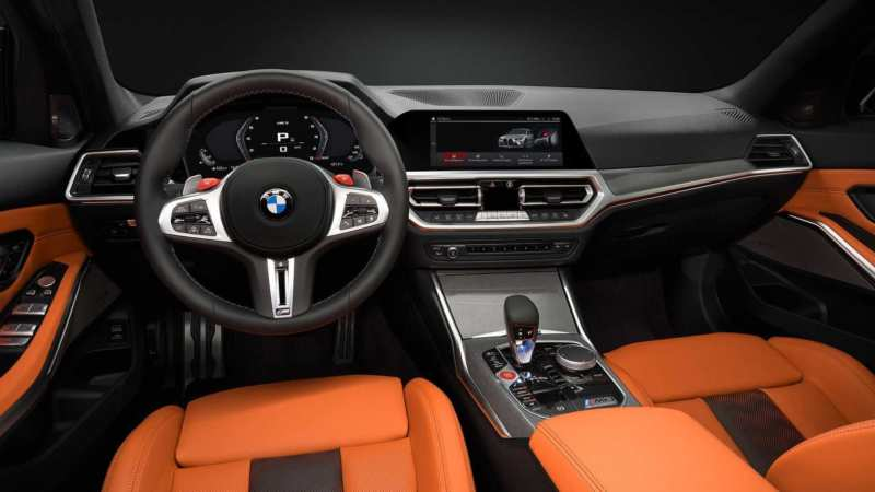 Interior of the BMW M3 Competition