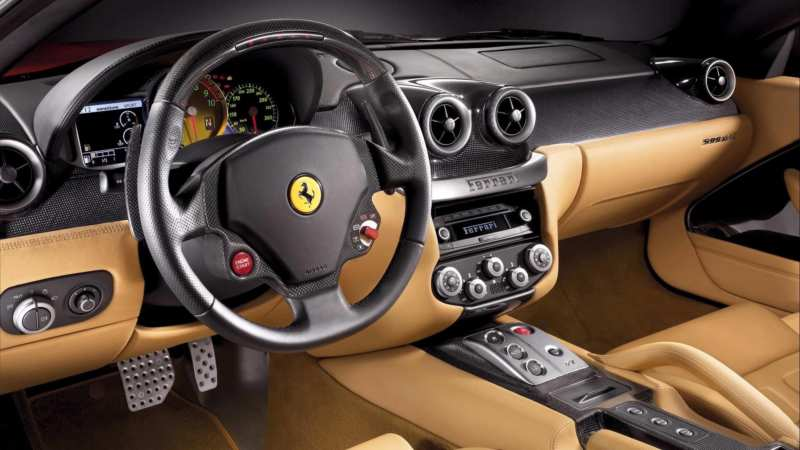 Interior of Ferrari F430