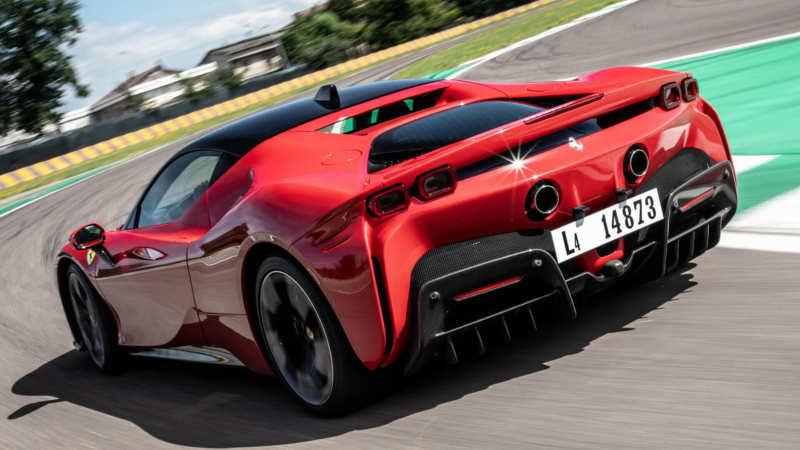 Ferrari SF90 Stradale rear view