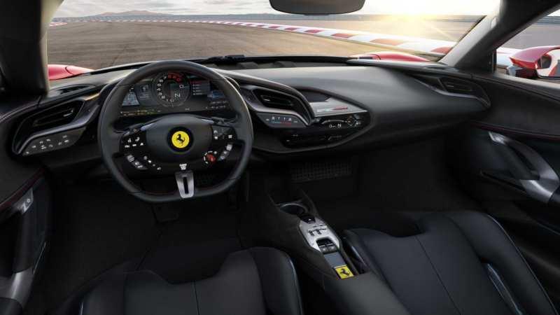 Interior of the Ferrari SF90 Stradale