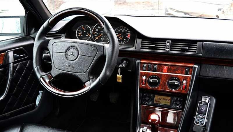 Interior of Mercedes-Benz E-Class (W124)