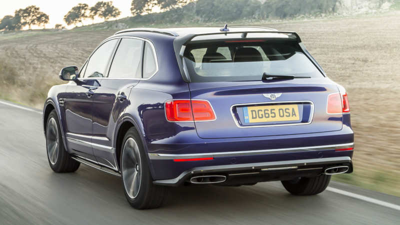 Bentley Bentayga rear view