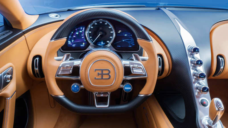 Bugatti Chiron steering wheel
