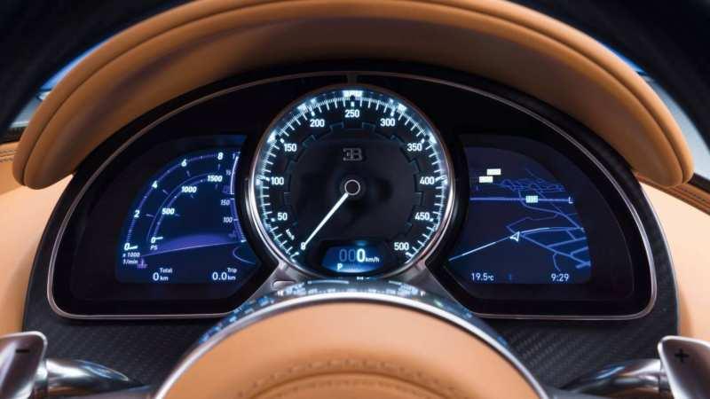 Bugatti Chiron center panel