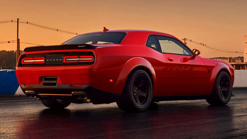 Dodge Challenger SRT Demon rear view