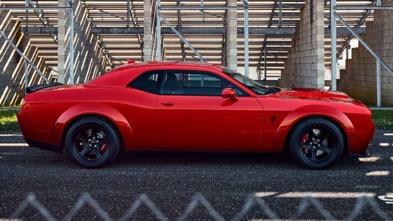 Dodge Challenger SRT Demon side view