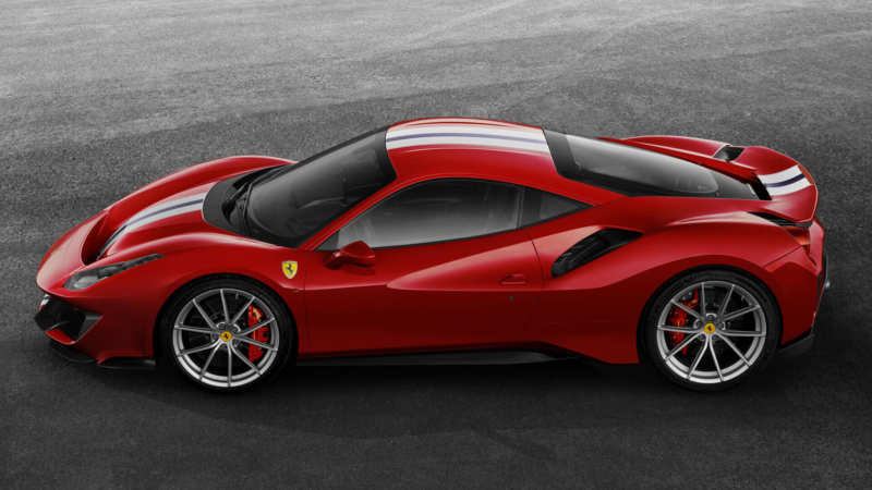 Ferrari 488 Pista side view