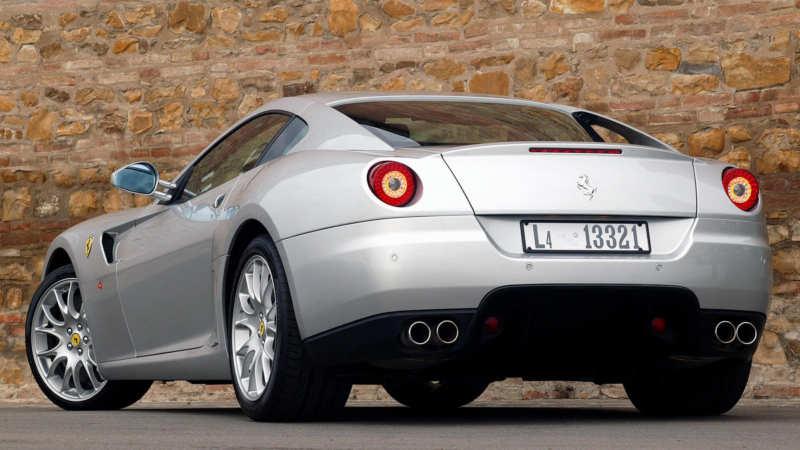 Back view Ferrari 599 GTB Fiorano