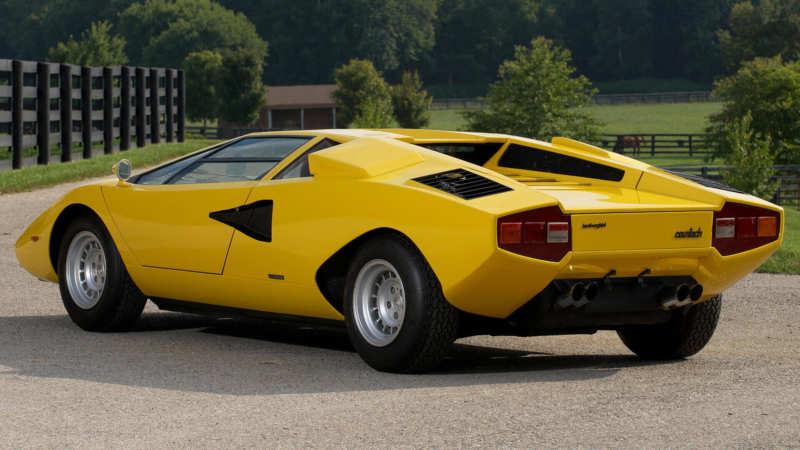 Lamborghini Countach rear view