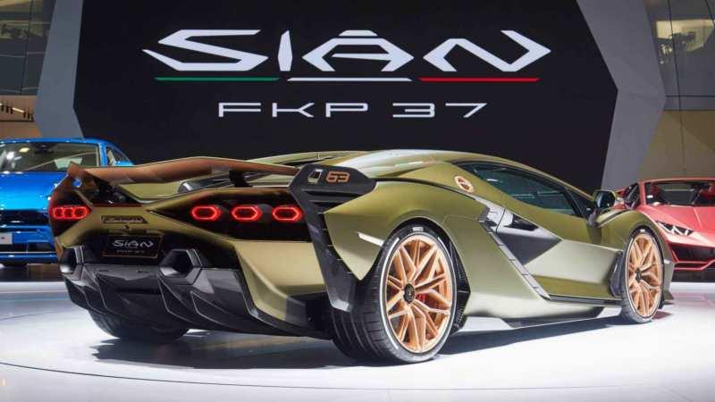 Lamborghini Sian rear view