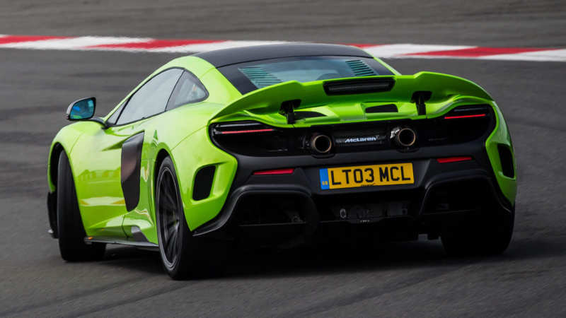 McLaren 675 LT rear view