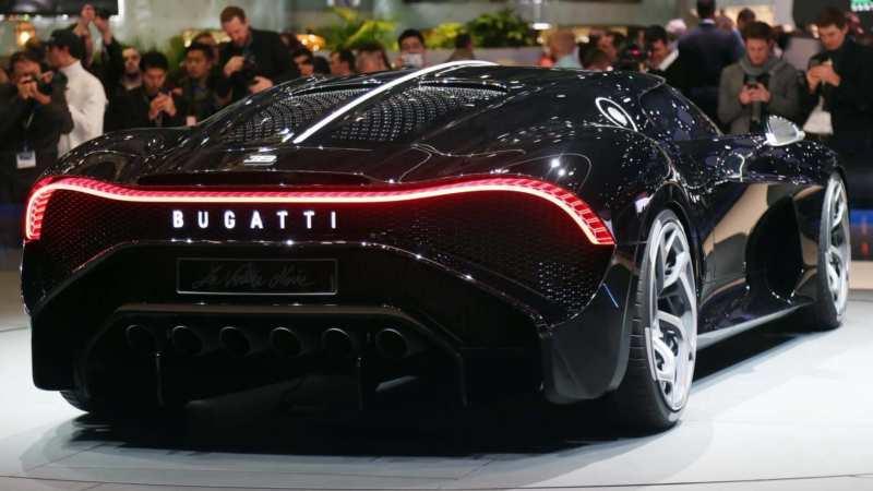 Bugatti La Voiture Noire rear view