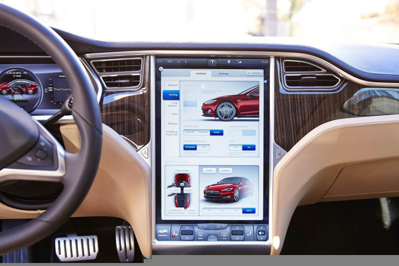 Vehicle control touch screen