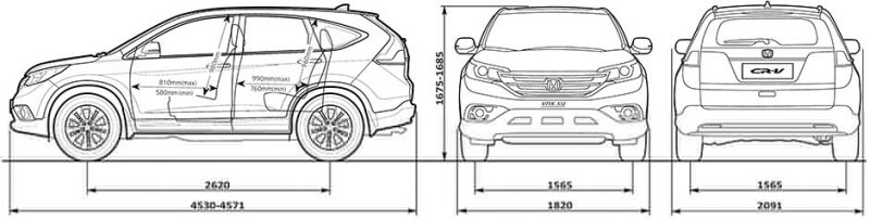 Dimensions Honda CR-V