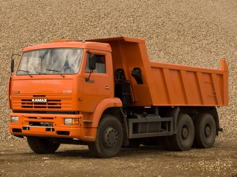 KAMAZ-6520 with old cabin